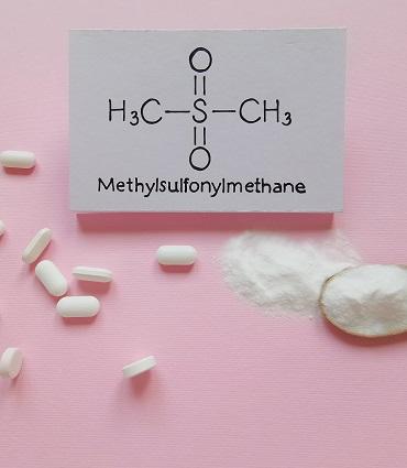 schéma MSM (méthylsulfonylméthane)