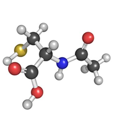 schéma N-acétylcystéine