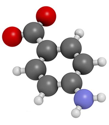 schéma acide para-aminobenzoïque